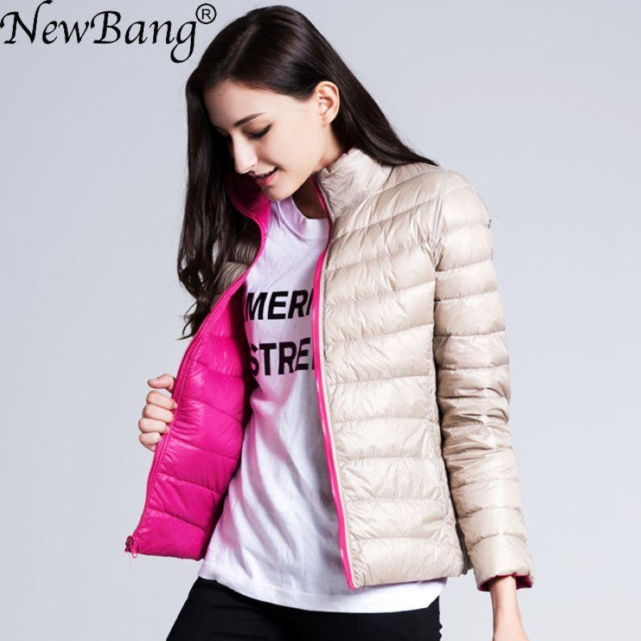 Chaqueta de plumón de marca newbang para mujer chaqueta