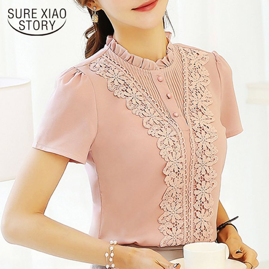 2019 New Arrival Fashion Style Women Blouses Sweet Cute Lady