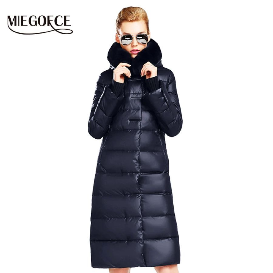 Miegofce 2019 Women s Coat Jacket Medium Length Women Parka With