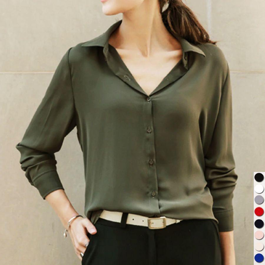 2019 Hot Sale Women Shirts Blouses Long Sleeve Turn-Down Collar
