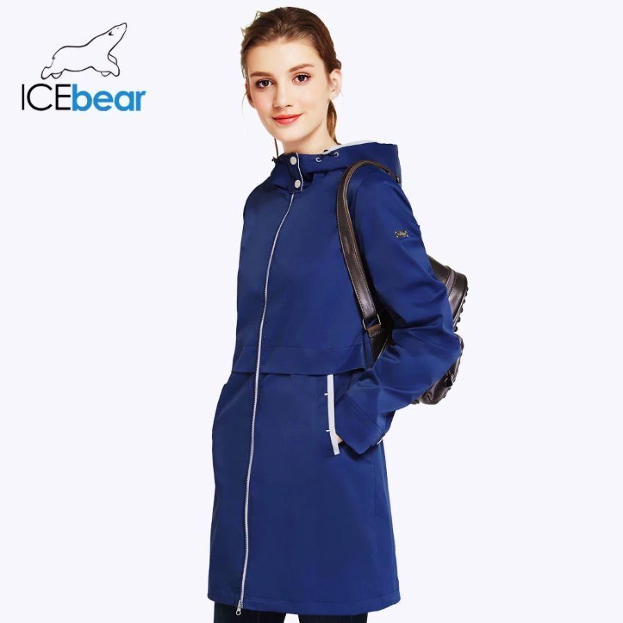 Icebear 2019 otoño mujer ropa de color sólido de manga