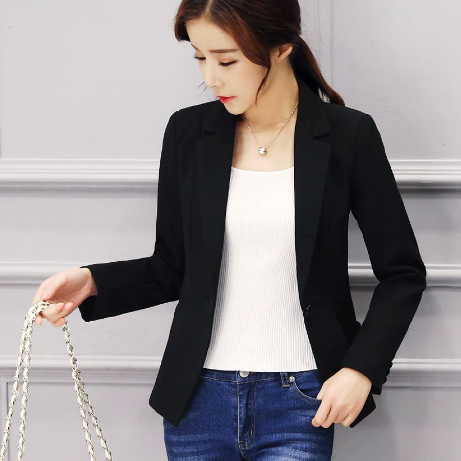 Hot Sale Women Blazers And Jackets Spring Autumn Casual Long