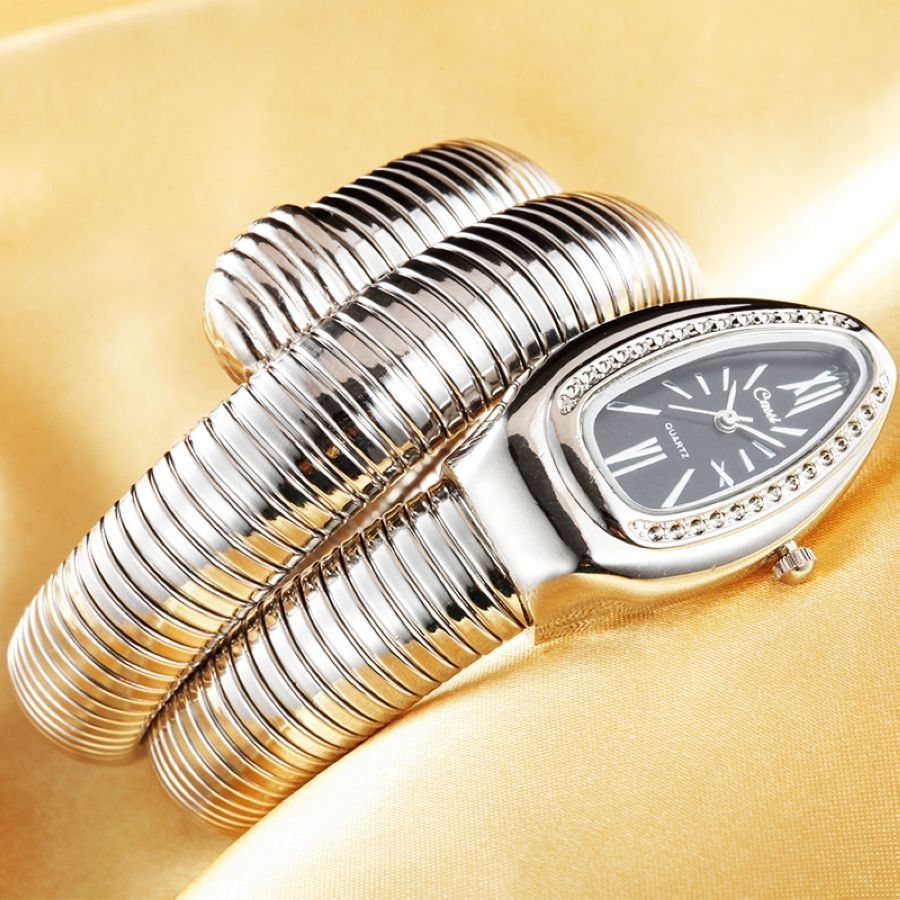 2019 Cussi Luxury Brand Snake Watch Gold Womens Watches Silver
