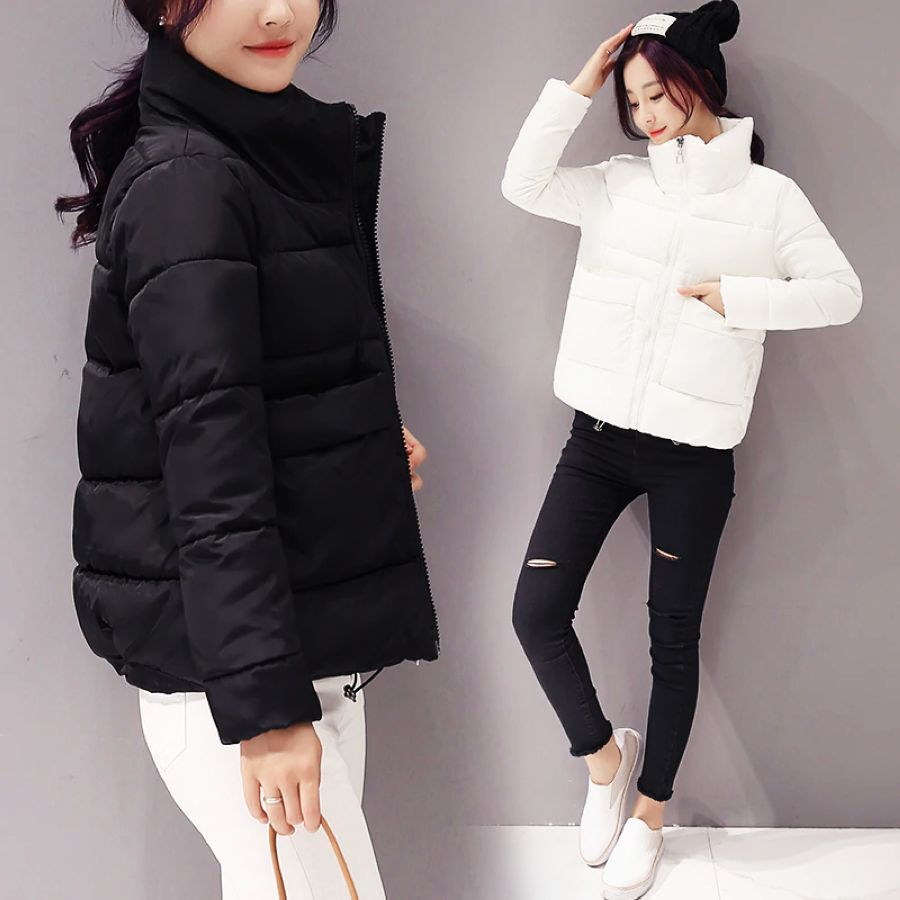 2019 Jacket Women Winter Fashion Warm Thick Solid Short Style