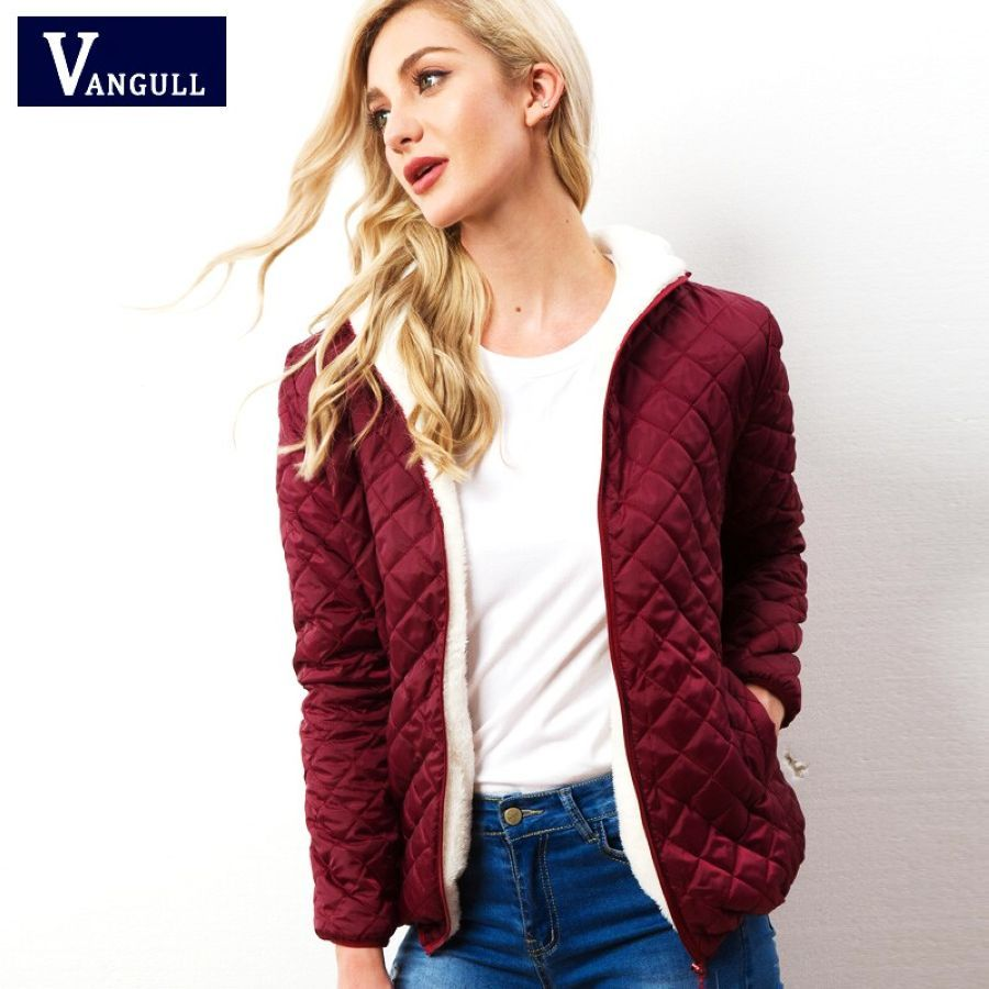 2019 Autumn Winter Warm Women Cotton Jacket Casual Quilted Woman