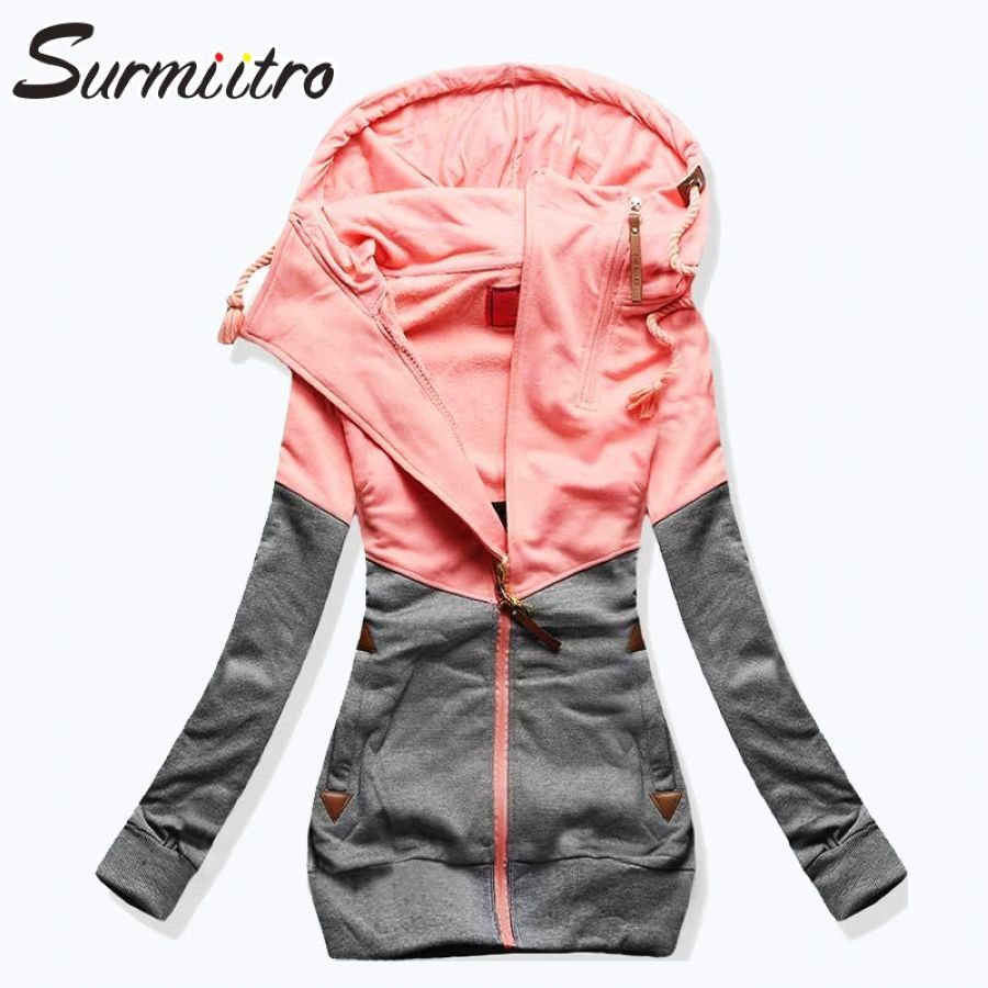 Surmiitro Spring Women Jacket 2019 Autumn Winter Oversized Hooded Sweatshirt