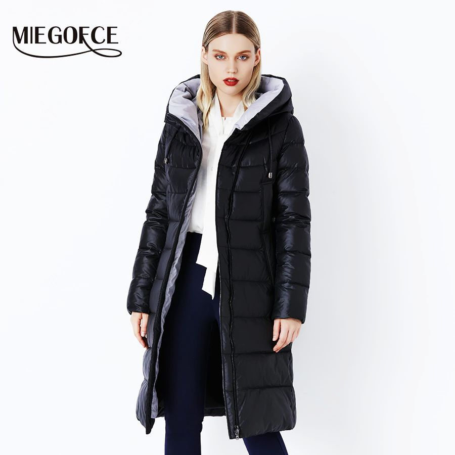 Miegofce 2019 Coat Jacket Winter Women s Hooded Warm Parkas Bio