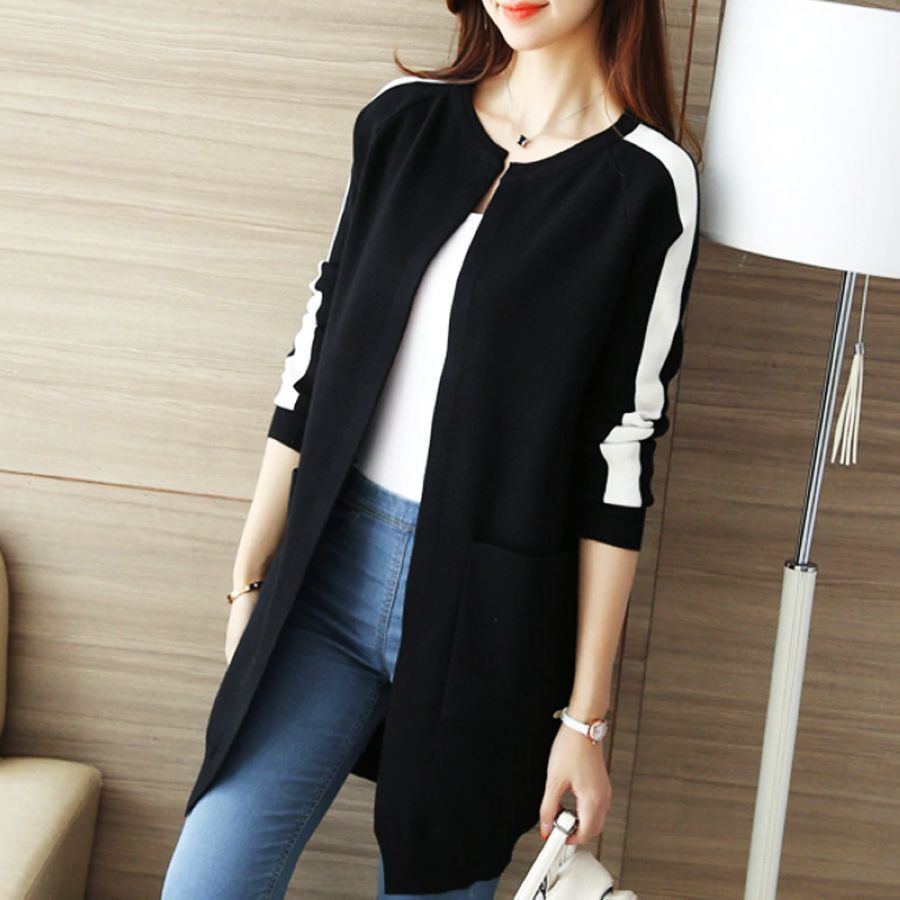 Knit Cardigan Womens Long Sweater Jacket Womens Spring And Autumn