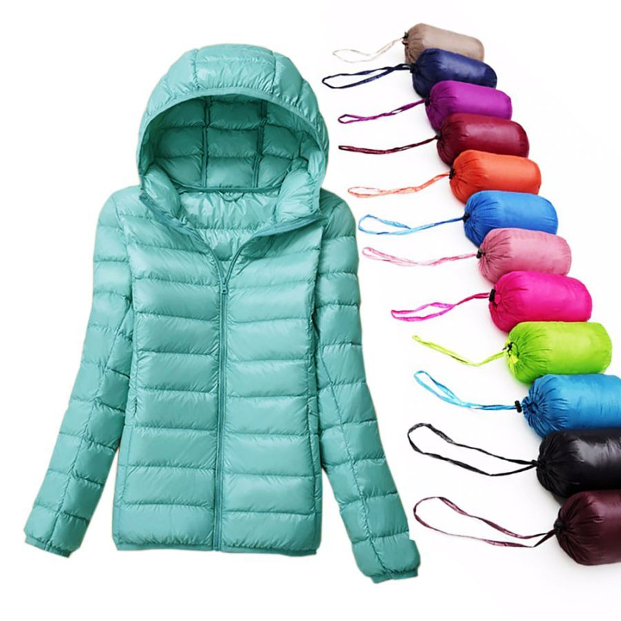 Winter Women Ultralight Down Jacket 90 Duck Down Coat Jackets
