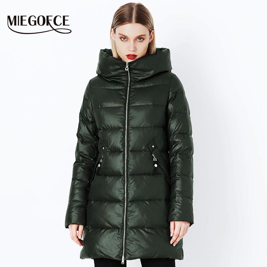 Miegofce 2019 abrigo de invierno parka para mujer con c