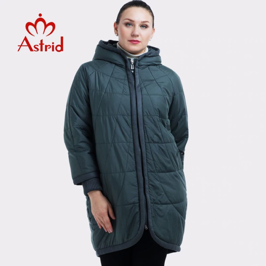 2019 New Winter Jacket Women Zipper Hooded Plus Size Female