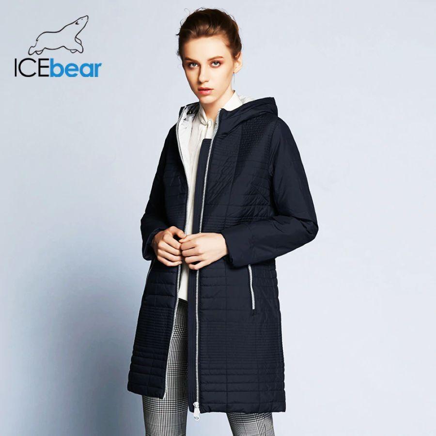 Icebear 2019 Autumn Long Cotton Women s Coats With Hood Fashion