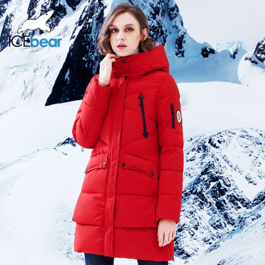 Icebear 2019 New Women Winter Jacket Coat Slim Winter Quilted
