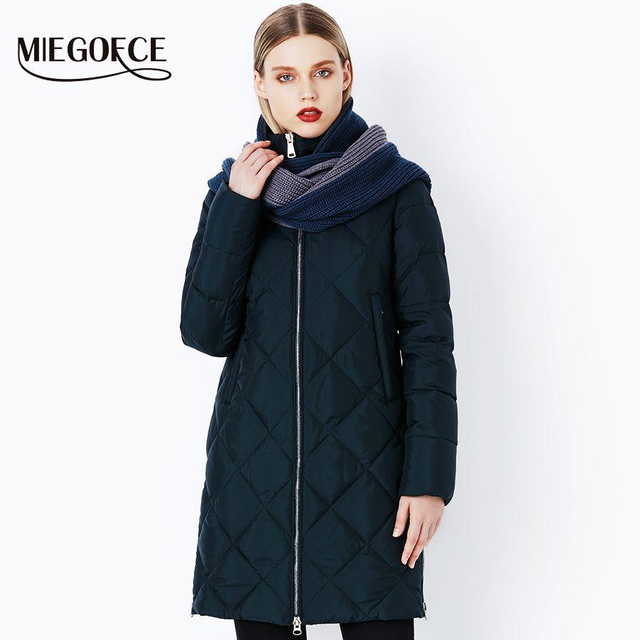 Miegofce 2019 New Winter Womens Coat Bio Fluff Outerwear Parkas