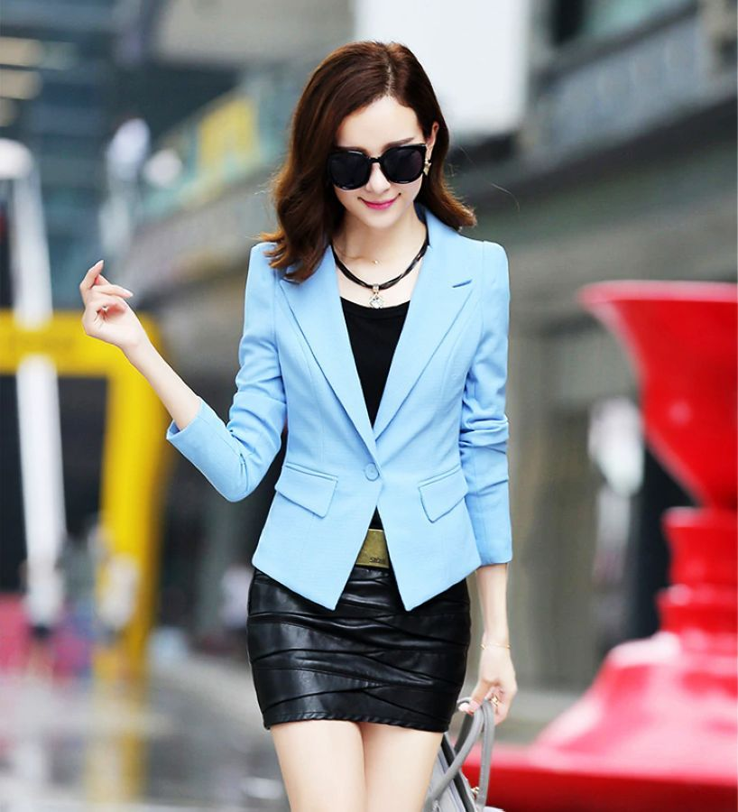 J62034 women blazer candy color suit jackets