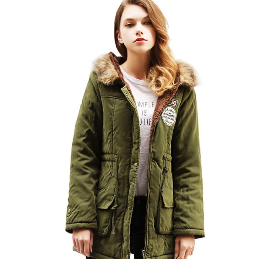 Johnature New Parkas Female Women Winter Hooded Coat Thickening Cotton
