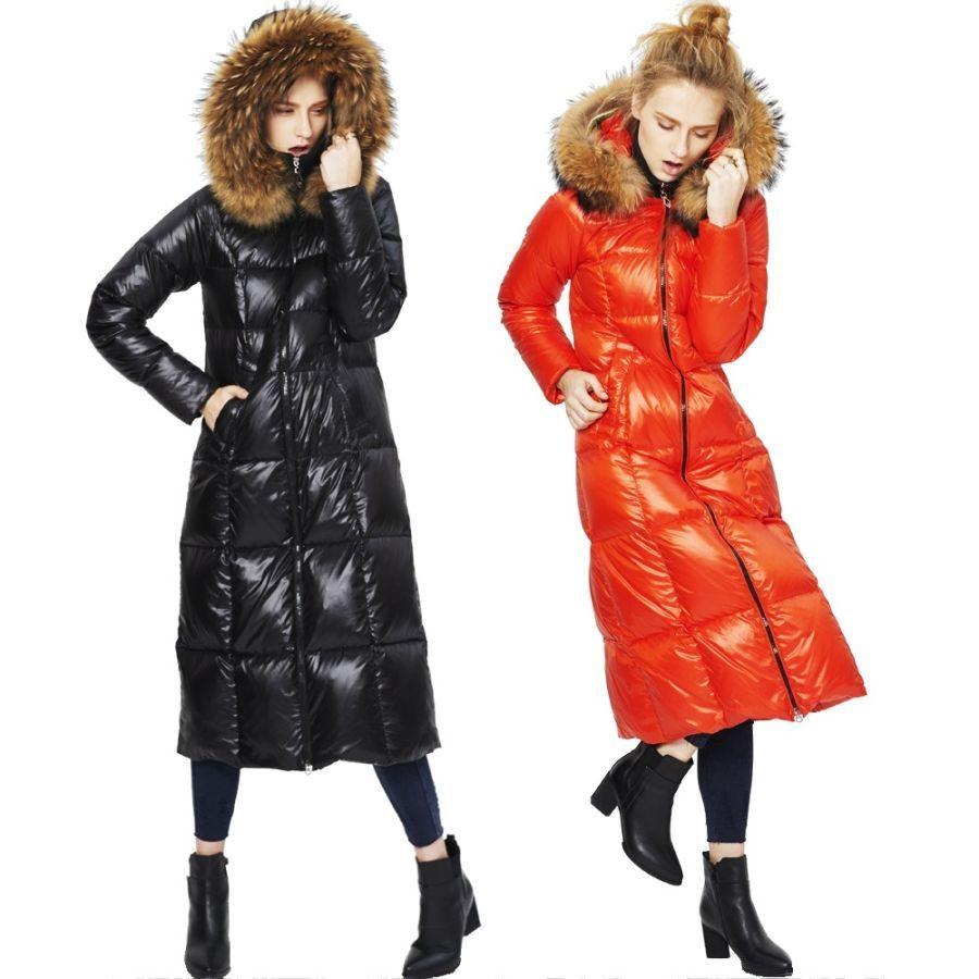 Winter New Stylish Light Luxury Scorpion Big Fur Collar Woman