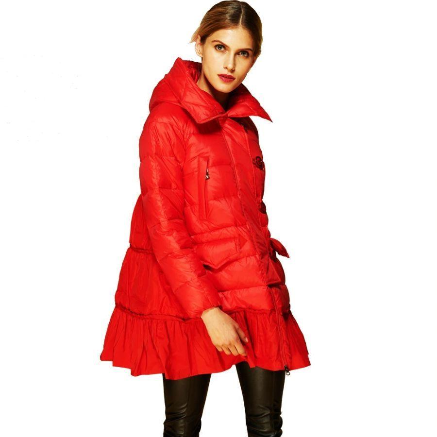 Invierno abajo chaqueta de las mujeres de la moda de la