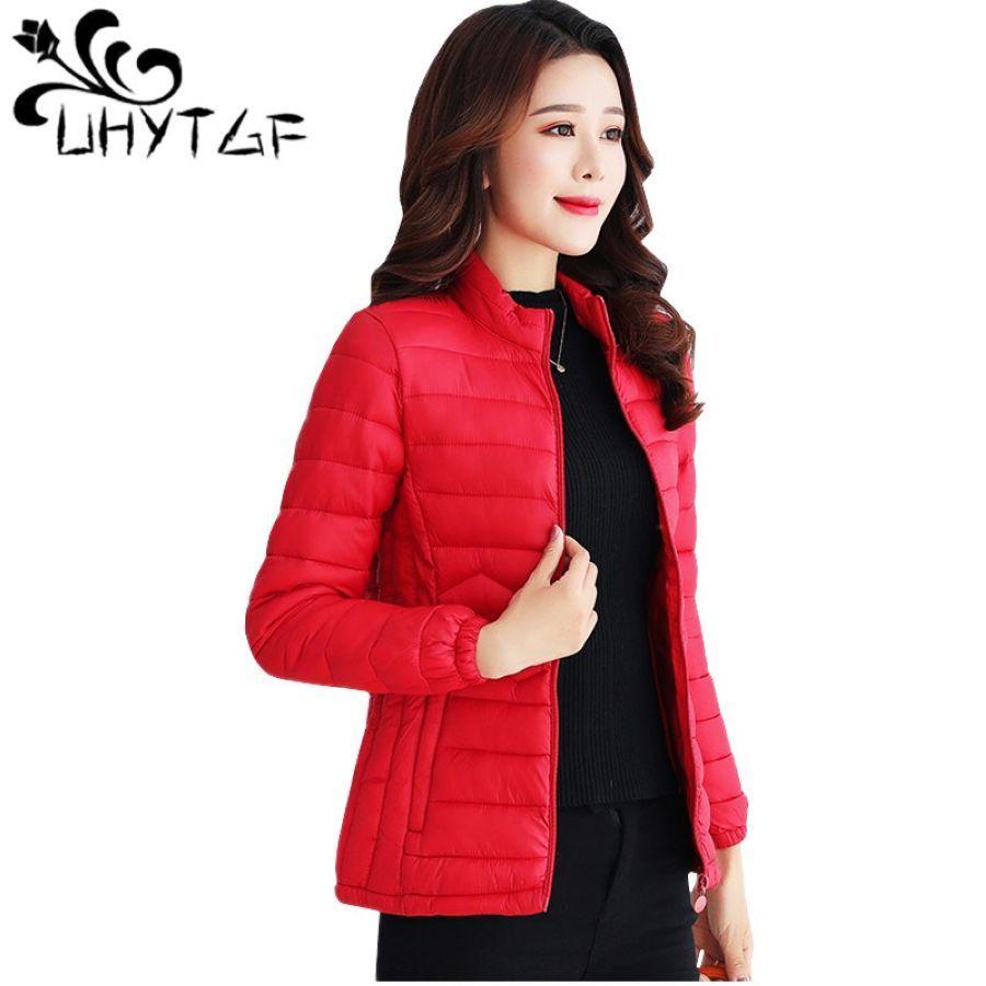 Uhytgf Thin Cotton Jacket Short Tops Winter Jacket Women Coat