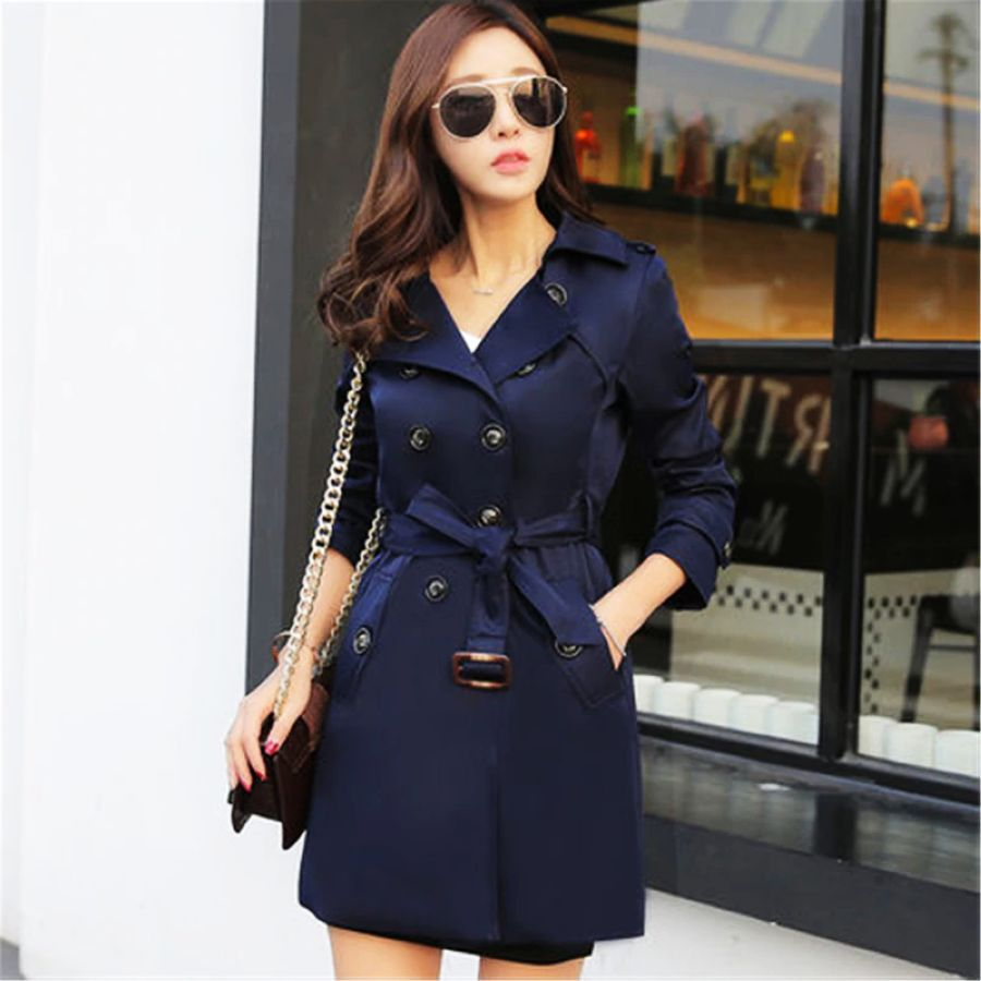 2019 Autumn New Double Breasted Trench Coat Female High Quality