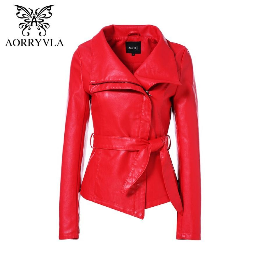 Aorryvla Hot Jackets For Women Autumn 2019 Brand Leather Jacket