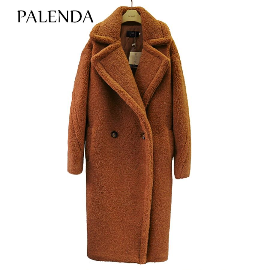 2019 New Teddy Coat Faux Fur Long Coat Women Lamb