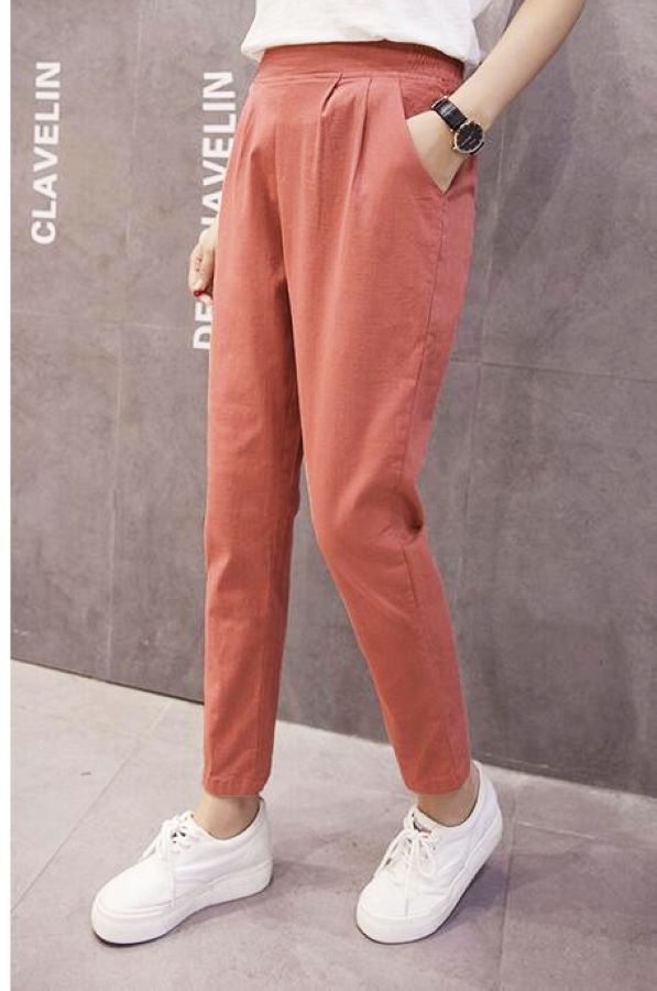 Women Nine Points Pants Tide Feet 2019 Spring The New