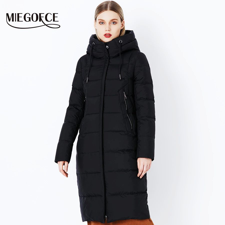 Miegofce 2019 Winter New Collection Bio Fluff Hooded Women s Winter