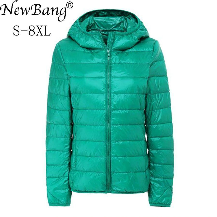 Newbang Brand 7xl 8xl Womens Down Coat Ultra Light Down