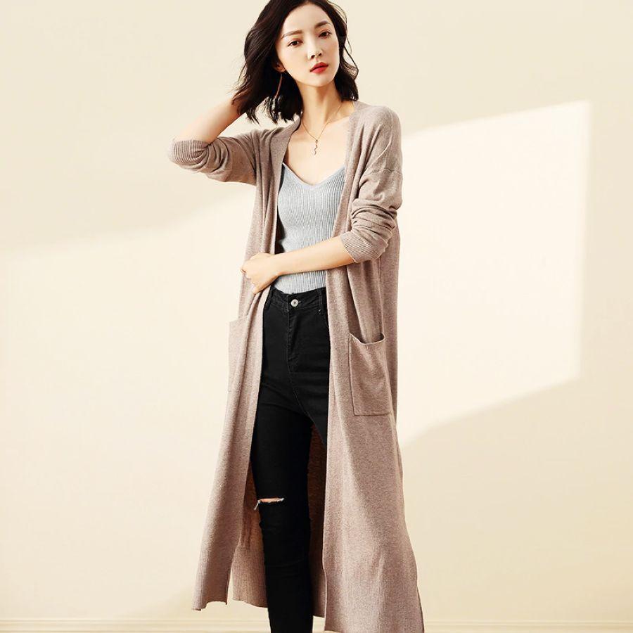 2019 Autumn Winter Woman Cardigan Sweater Long Sleeve Cashmere Sweater