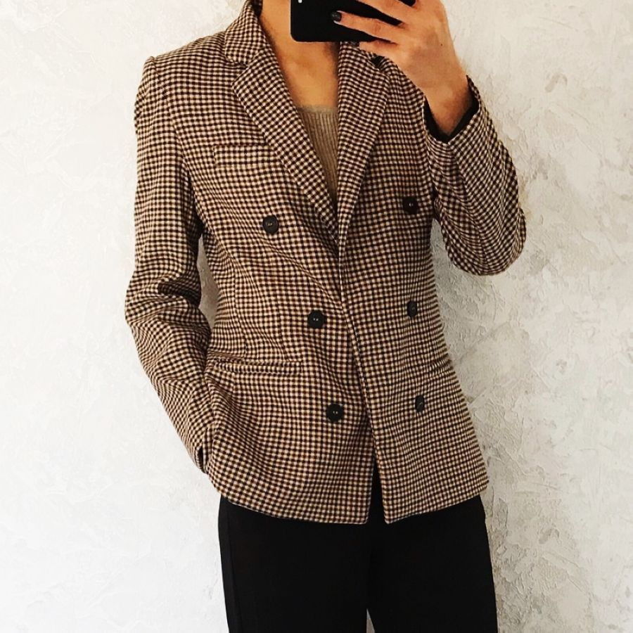 2019 Autunm Women Blazers And Jackets Suit Casual Plaid Blazer