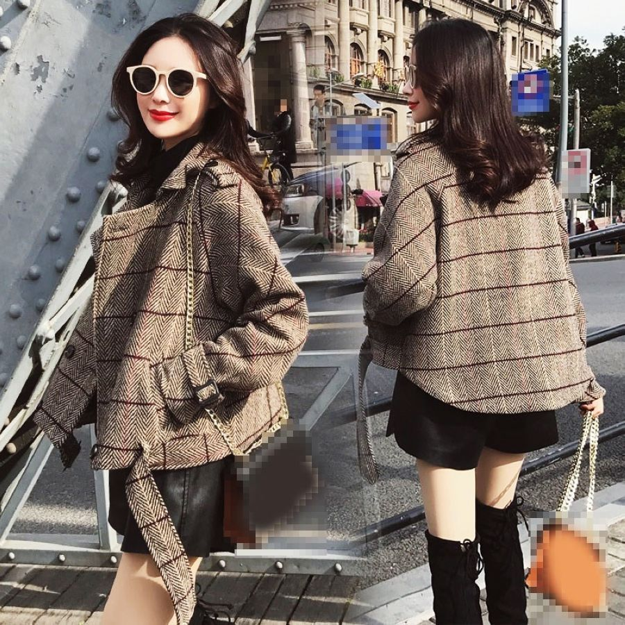 2019 nuevo otoño a cuadros de mujeres chaqueta chaqueta