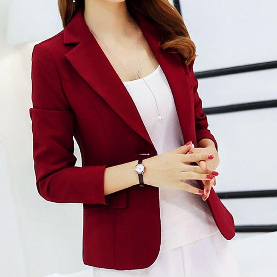 Women's Blazers - Ladies Blazer Long Sleeve Blaser Suit Jacket Female  Feminine