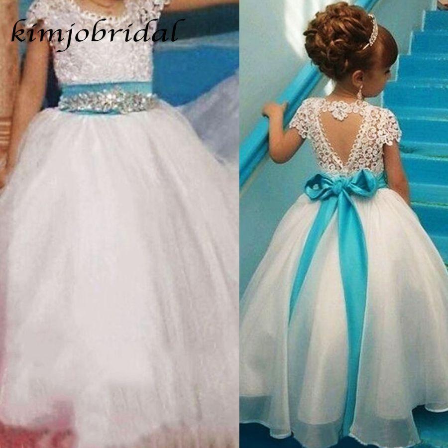 Superkimjo White Little Flower Girls Dresses Little Girls Wedding Dress