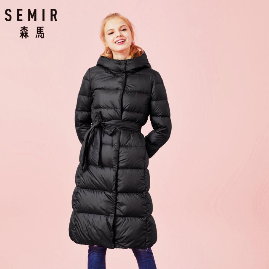 Semir Women Winter Fashion Jacket Thick Warm Coat Lady Cotton
