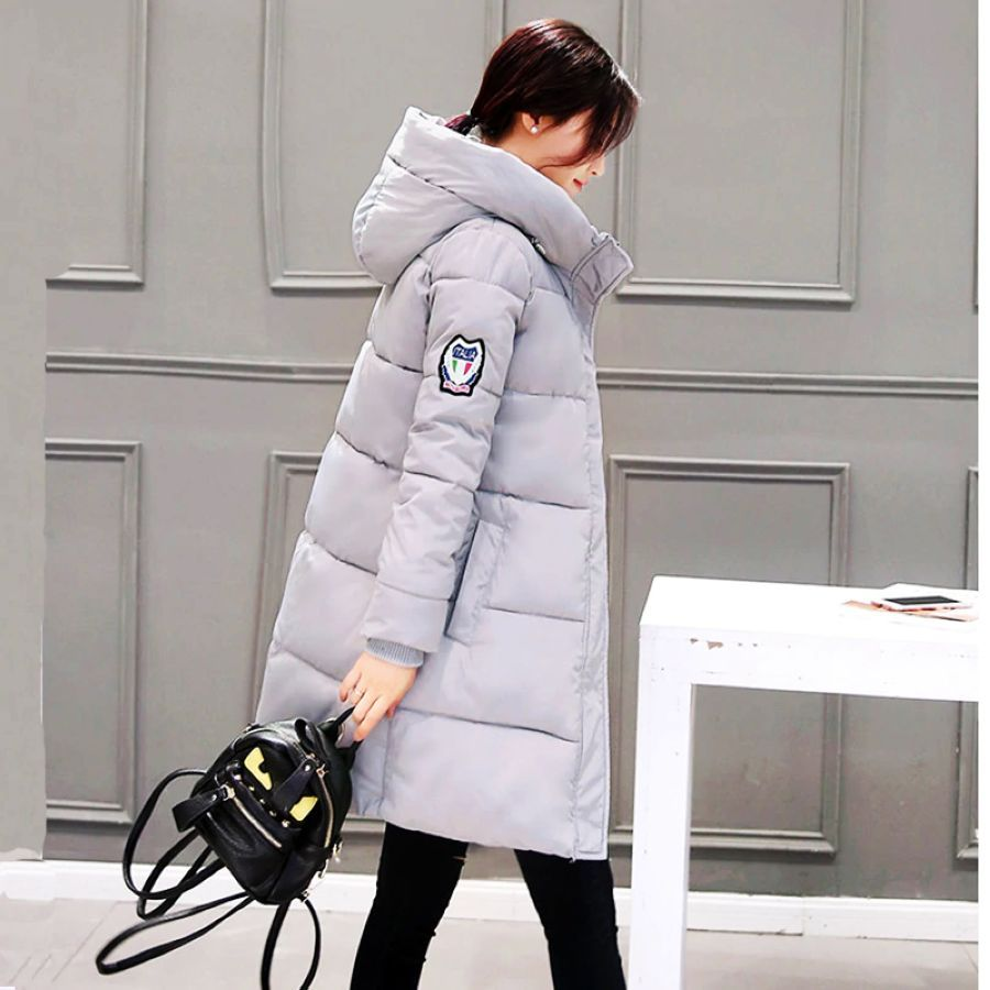 2019 Women Winter Hooded Warm Coat Cotton Padded Jacket Female