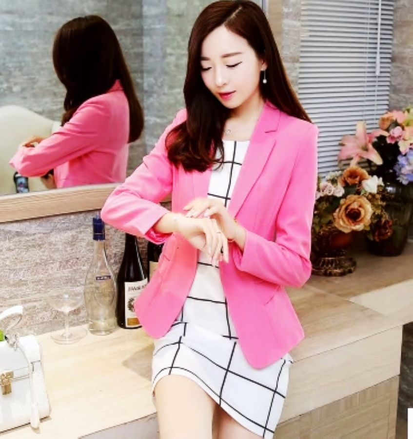 J61248 fashion long sleeve blazer women suit jacket