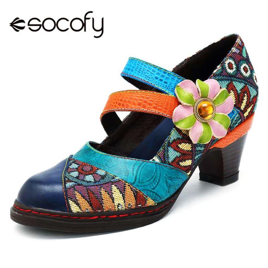 Socofy retro bohemios mujer zapatos mujer primavera oto