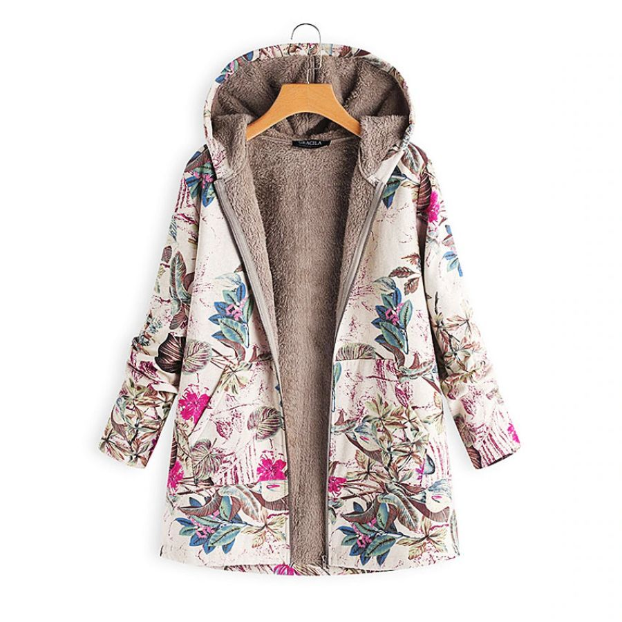 Hoodies Print Parka Mujer Winter Coats Women Thicken Velvets Plus