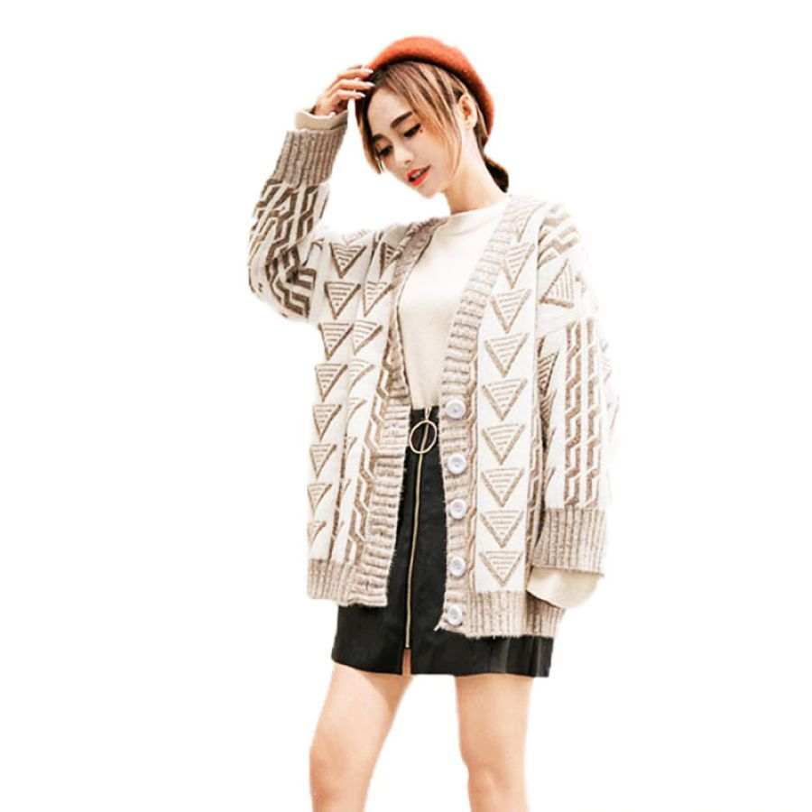 2019 New Women Knitted Jacket Fashion Single-Breasted Sweater Cardigan Autumn