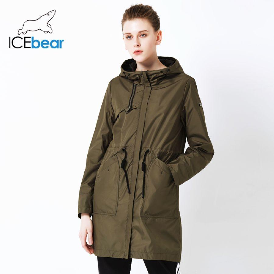 Icebear 2019 Autumn New Ladies Windbreaker Hooded Ladies Jacket Fashion