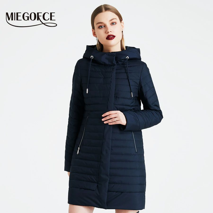 Miegofce 2019 Spring Windproof Coat Quilted Parka Warm Womens Jacket