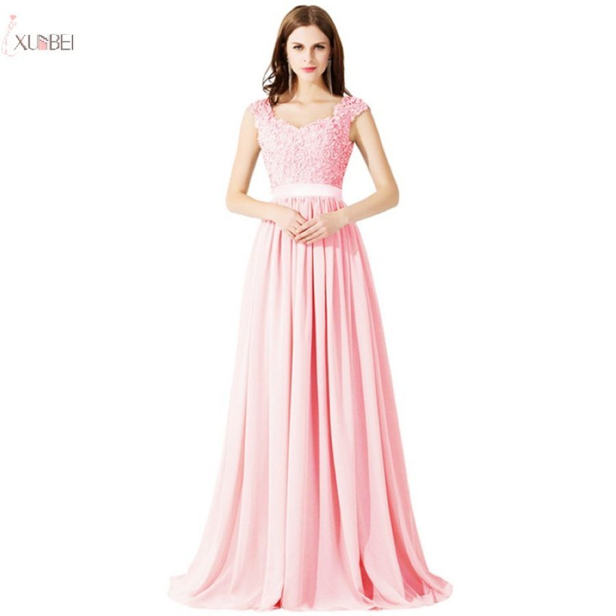 2019 Burgundy Chiffon Long Bridesmaid Dresses Applique Sleeveless Wedding Party