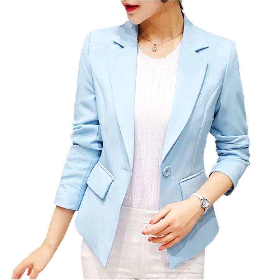 2019 Blazer Femme Jackets Women Blazer Pink Long Sleeve Blazers