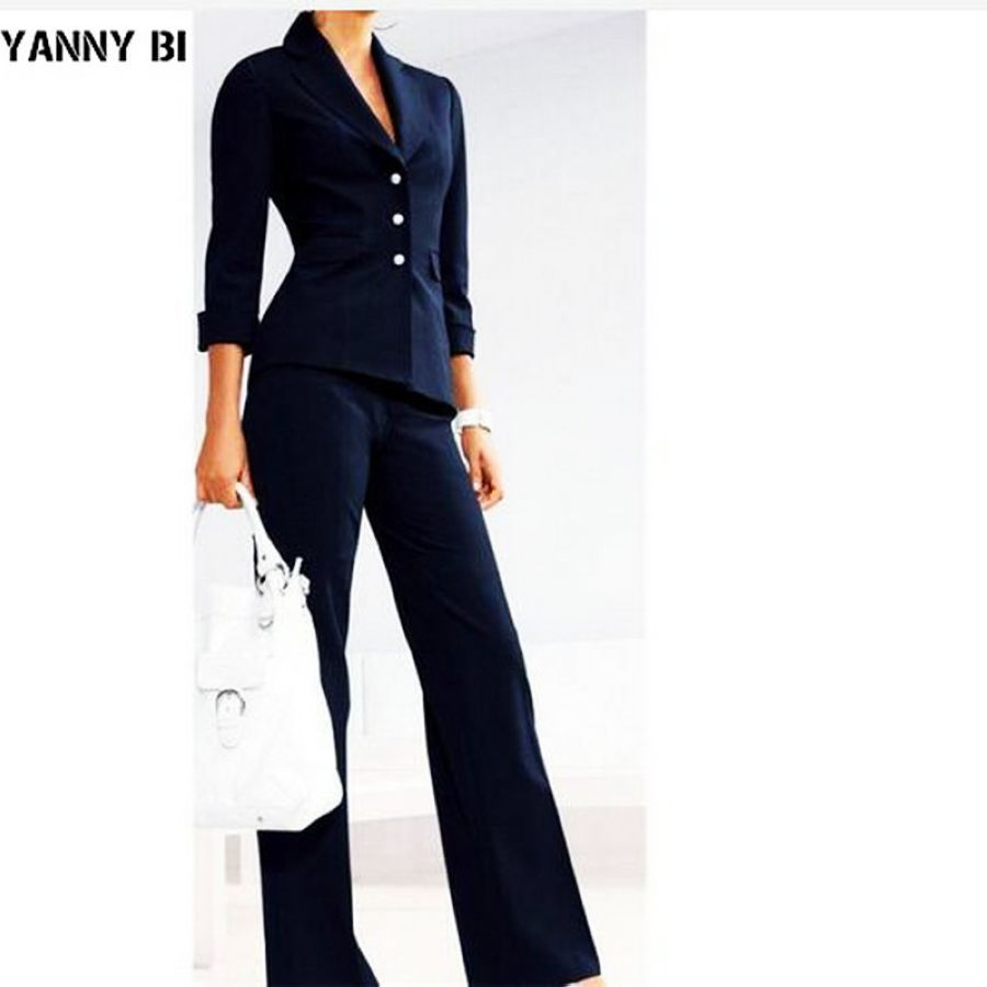 Womens Suits Female Suit Dress Notch Lapel Womens Business Office