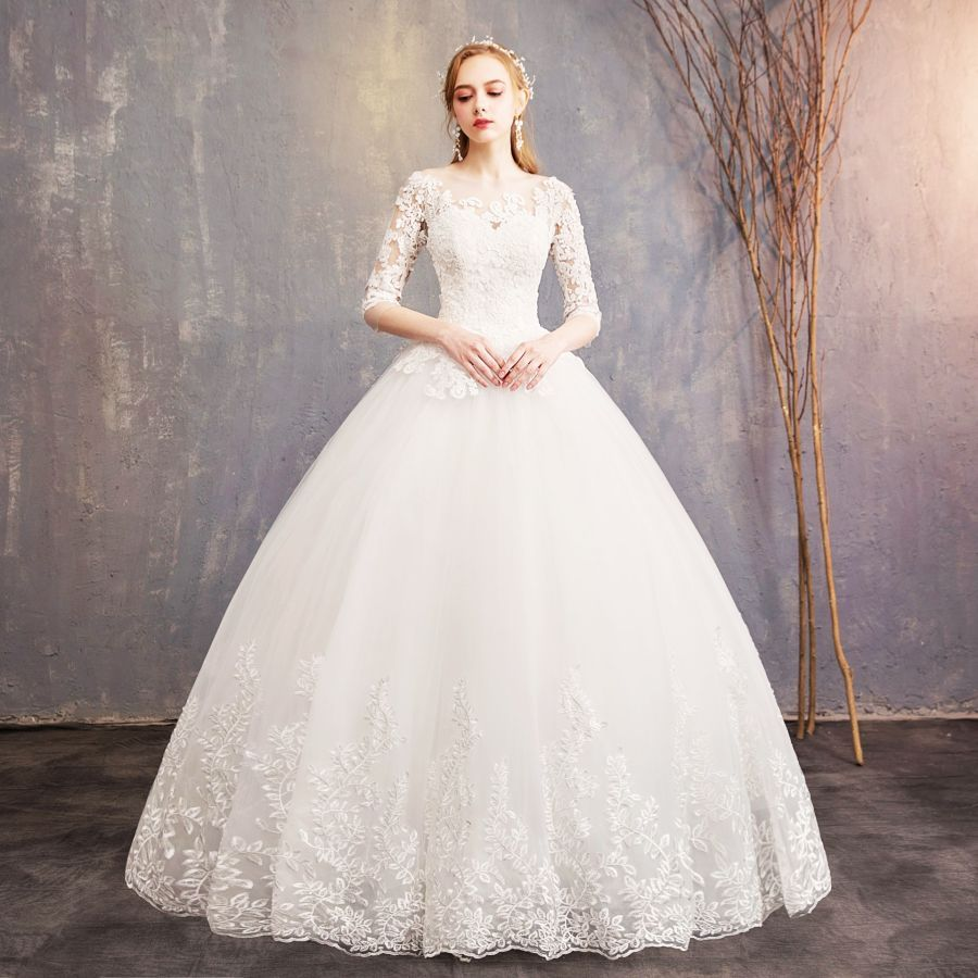Vestido de novia simple de princesa vestido de novia de