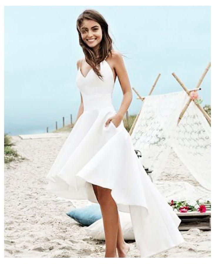 Thinyfull sexy playa vestidos de novia spaghetti strap