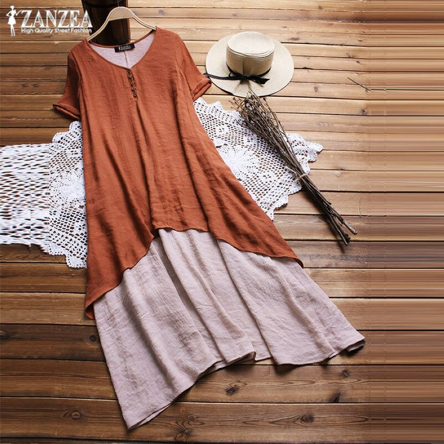 Dresses 2019 Zanzea Summer Dress Women Sundress Plus Size Vestidos
