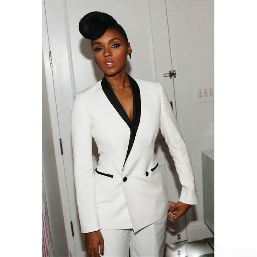 Fashion Women Suit Single Breasted Slim Pant Suits Notched Blazer