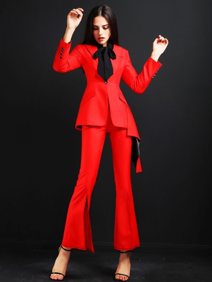 High Quality Women Suits Pants Suit Ladies Office Sets Casual